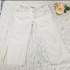 ⚡Mek Denim White Capris Raw Hem Jaisalmer Sz 28